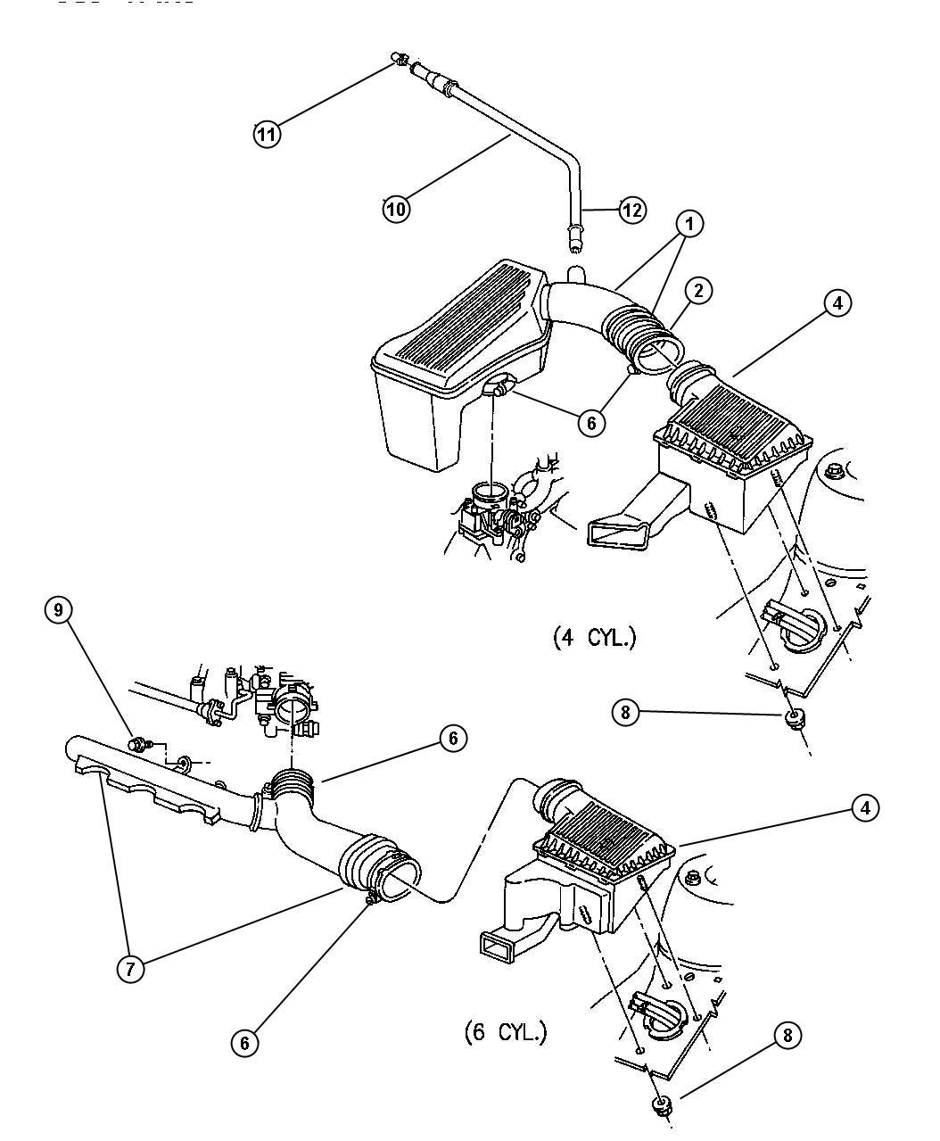 Chrysler Cirrus Element. Air cleaner. Engine, filter, fca ...