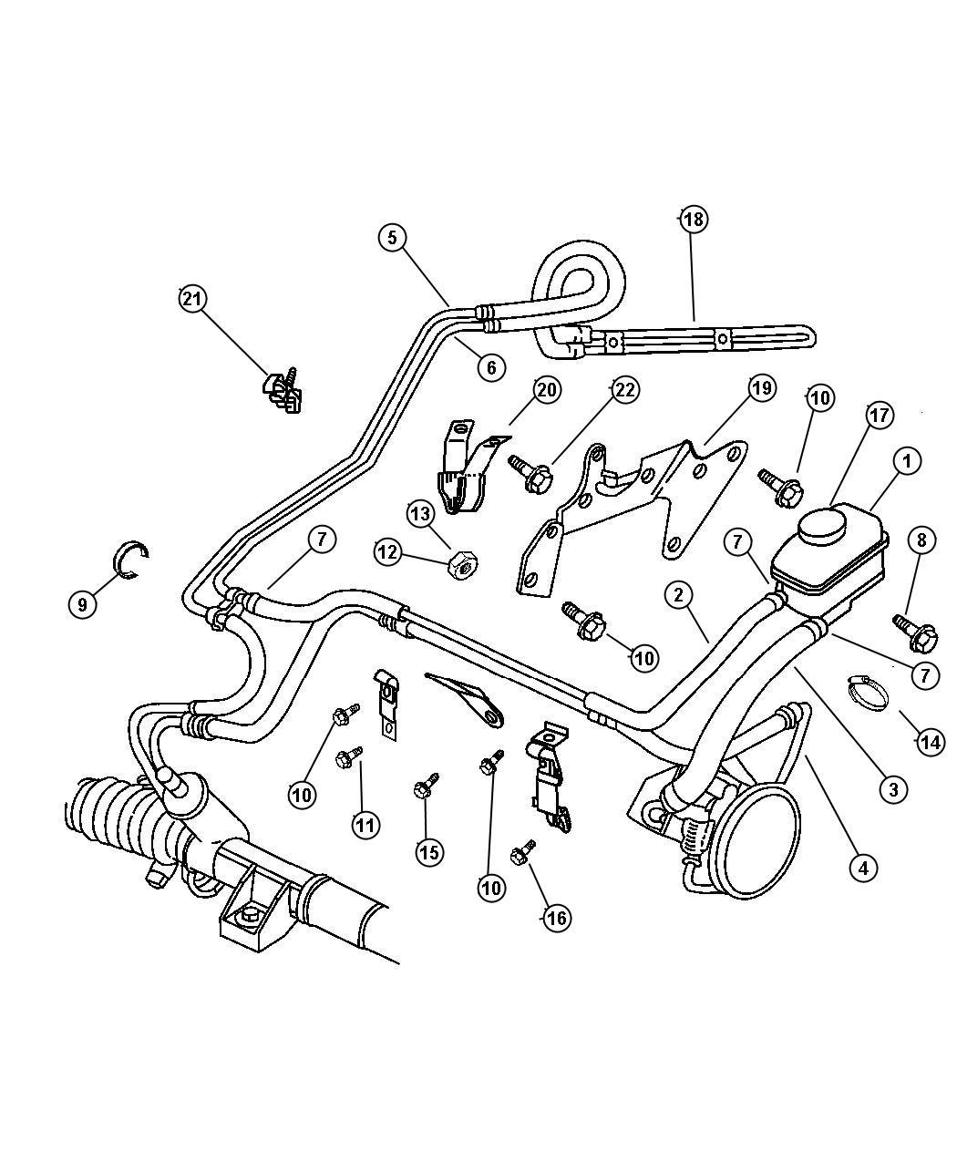 Chrysler Cirrus O Ring  Power Steering Hose  Mounting