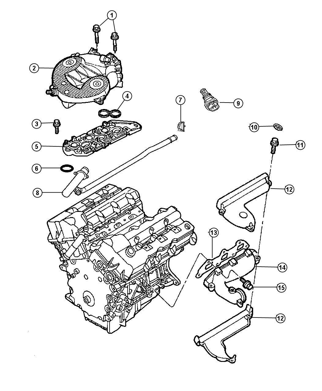 Chrysler Lhs Sensor  Coolant Temperature  2 5l  U0026 4 0l