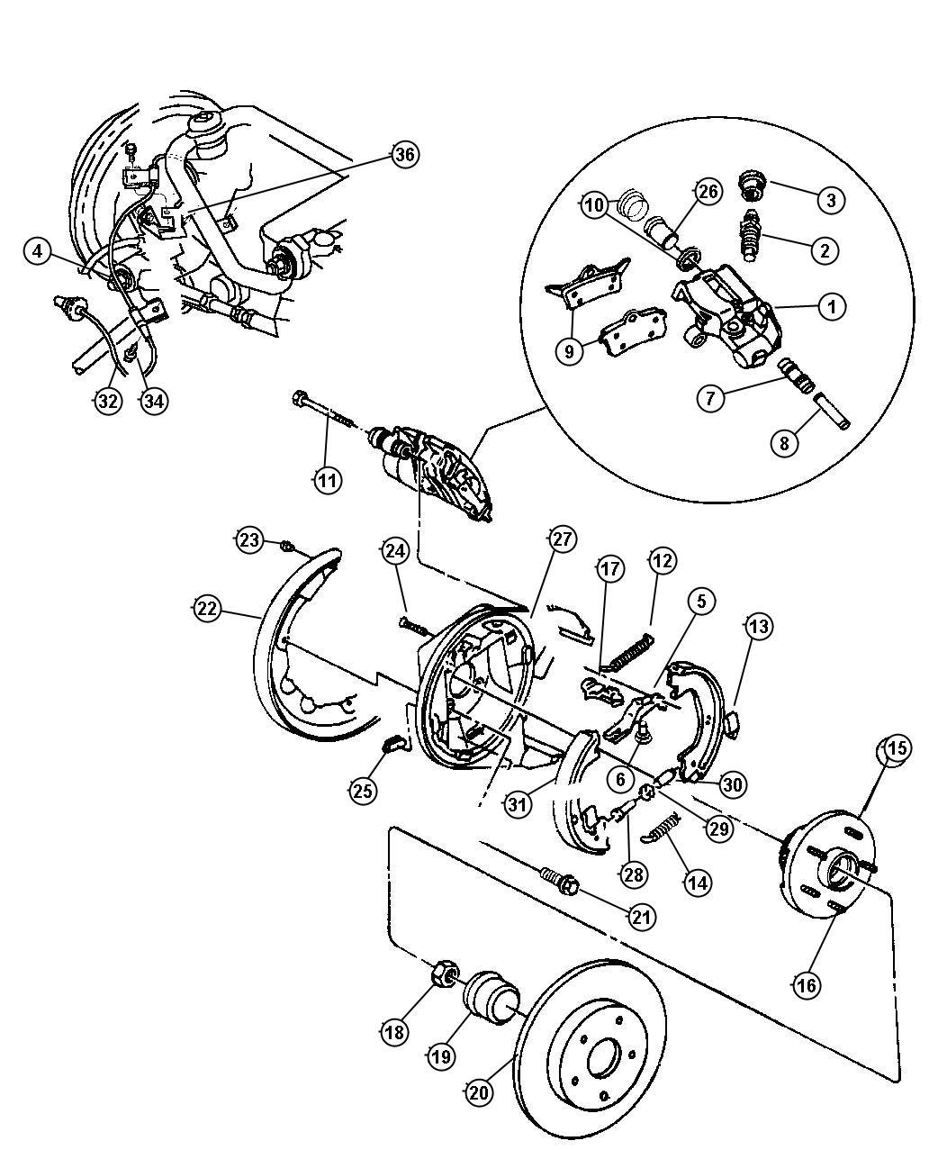 Chrysler Cirrus Bleeder Screw  Screw  Brake  Right Or Left