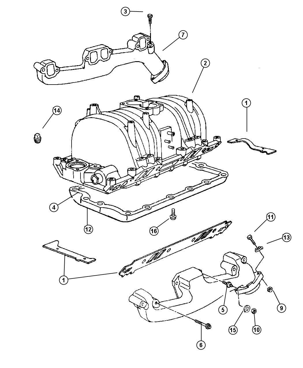 Dodge Durango Stud  312-18   312-24x2 25  Exhaust Manifold  Intake  Engine  Clutch