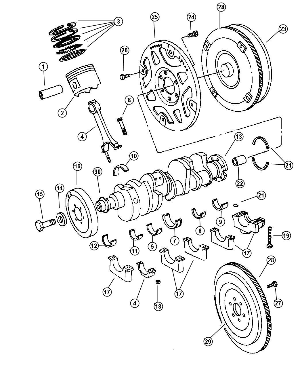 Dodge Dakota Bearing  Connecting Rod  Std  Standard