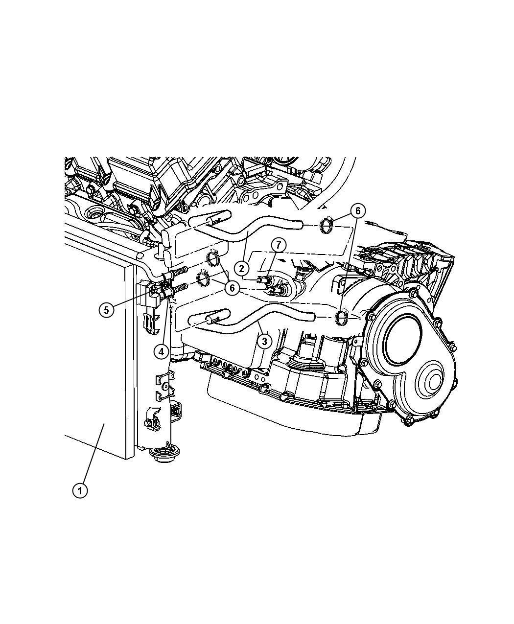 Chrysler Sebring Tube  Trans Oil Cooler Outlet  Engine
