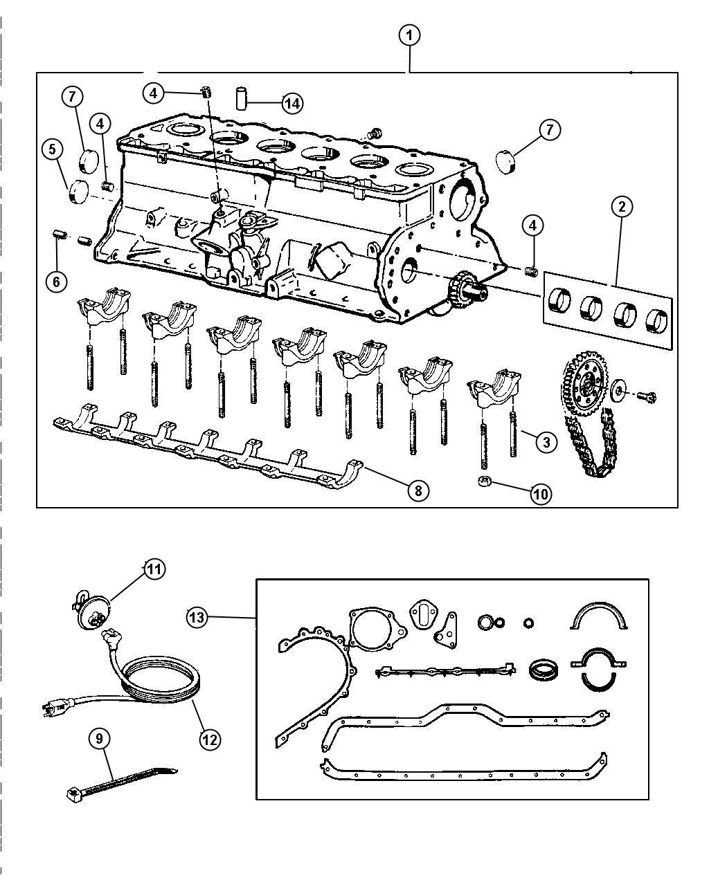 Jeep Wrangler Engine. Long block. Remanufactured. Cylinder ...