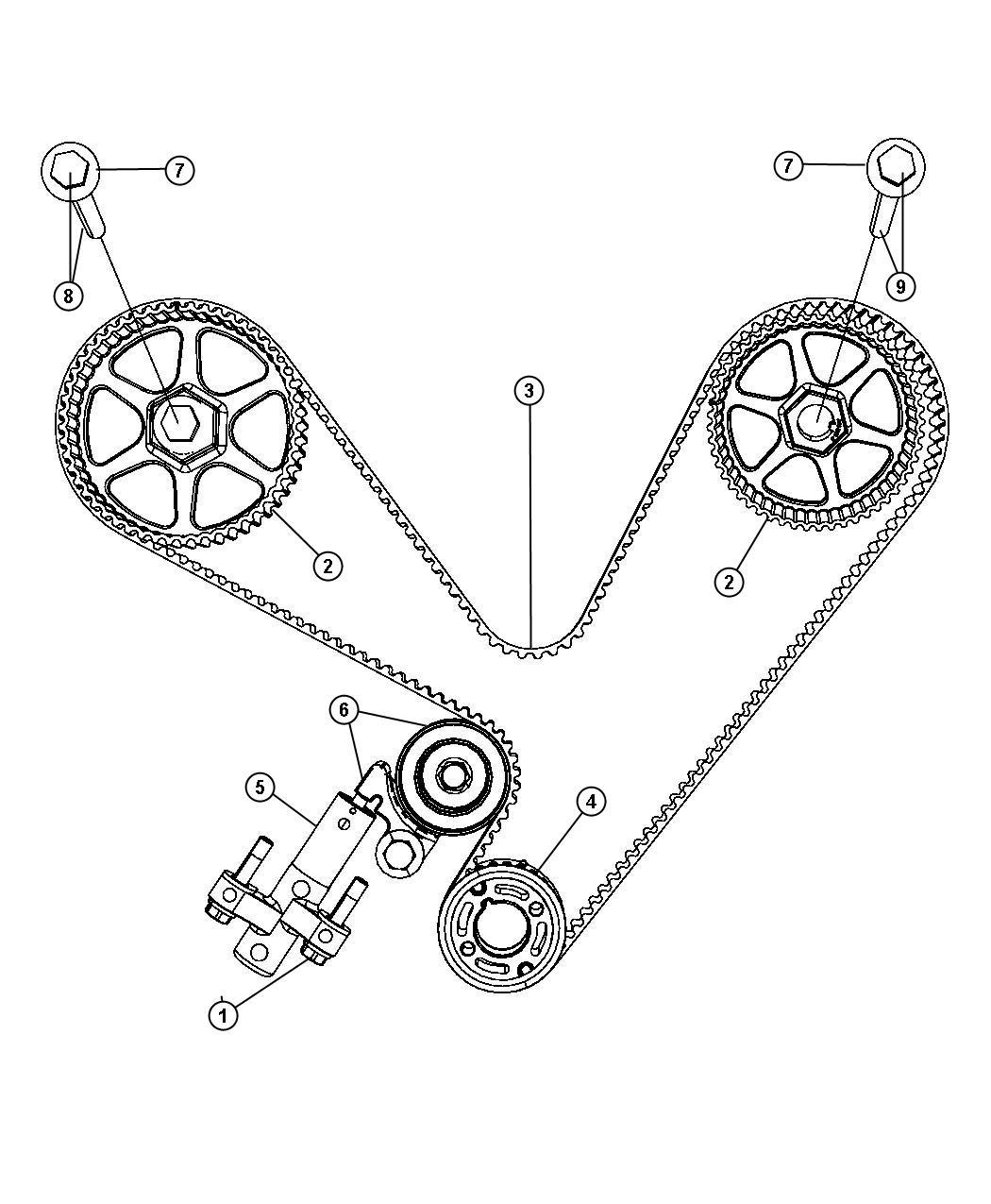 Dodge Grand Caravan Belt  Timing  Engine  Mpi  Output