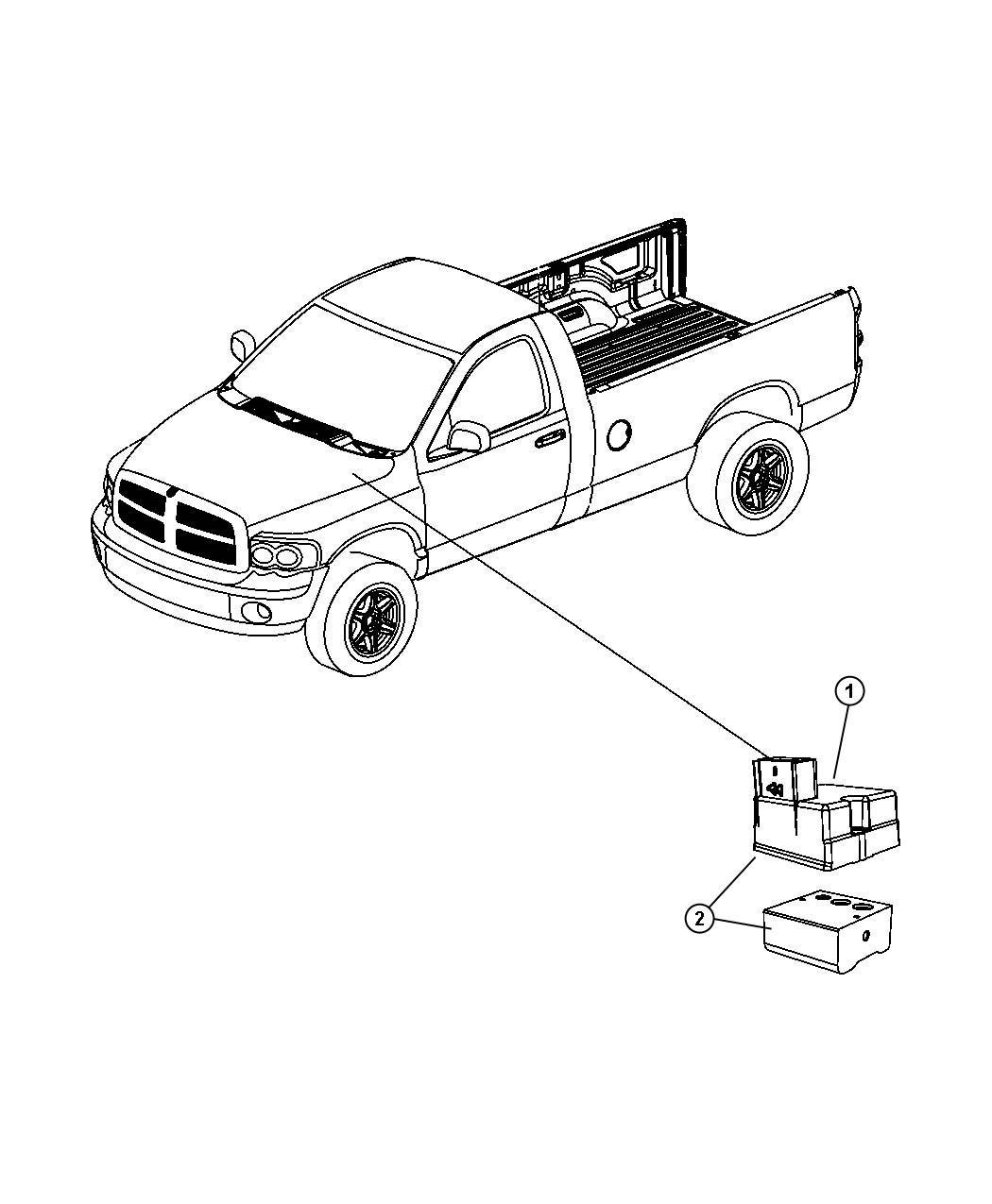 Dodge Ram 2500 Module. Anti-lock brake system. Electronic ...