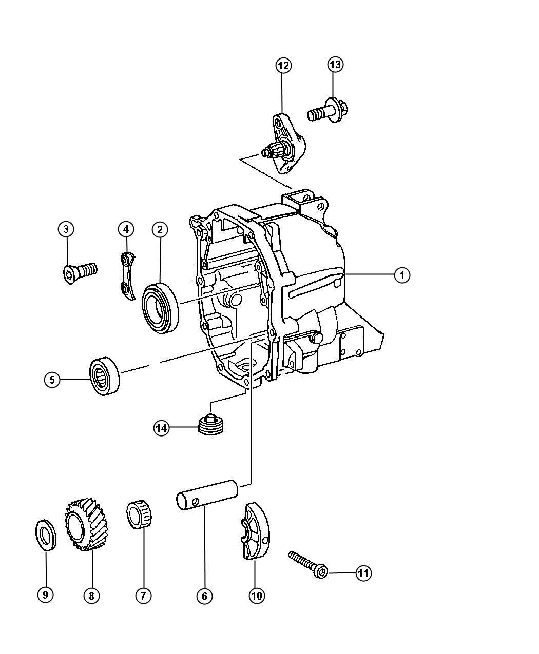Jeep Wrangler Plug  Oil Drain  Case  Related  Rear