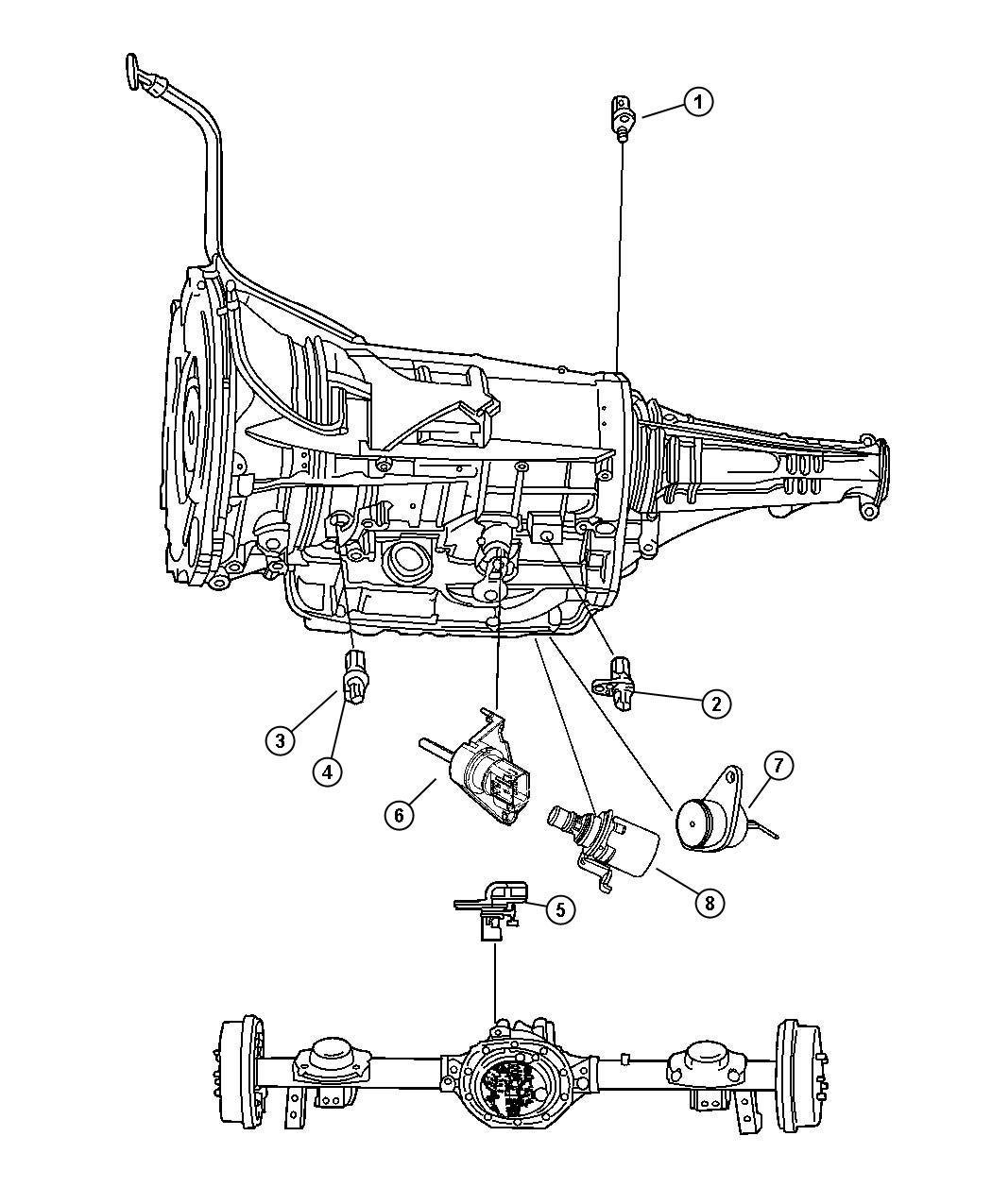 Dodge Ram 1500 Sensor, solenoid. Trans variable force ...