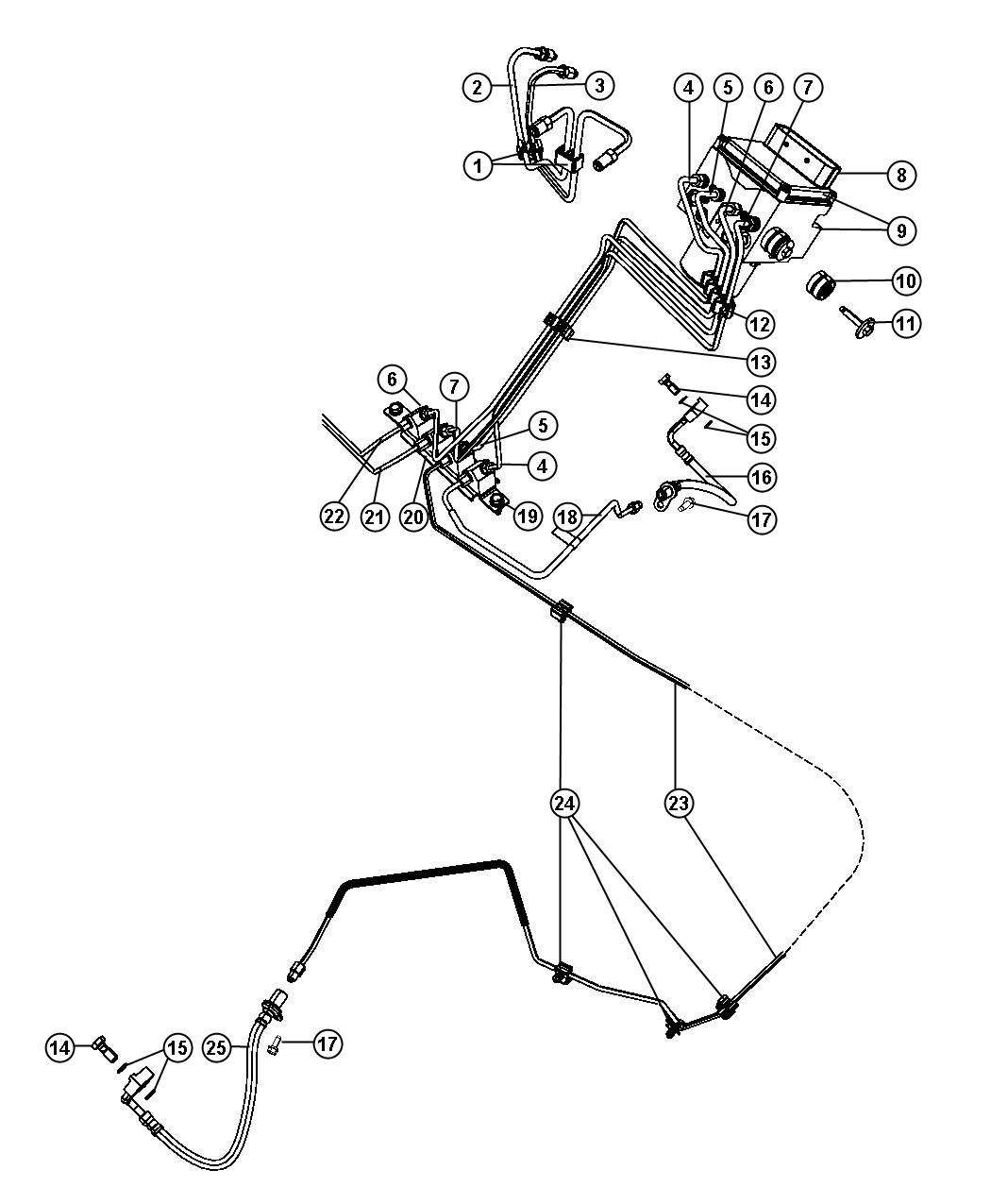 Dodge Ram 1500 Control unit. Anti-lock brake. [[electronic ...