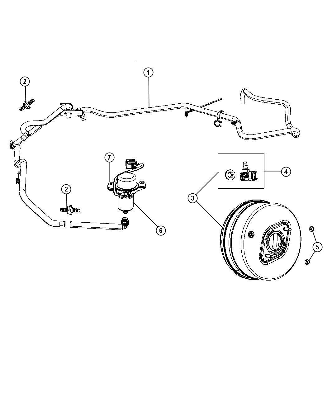 Jeep Grand Cherokee Hose  Brake Booster Vacuum