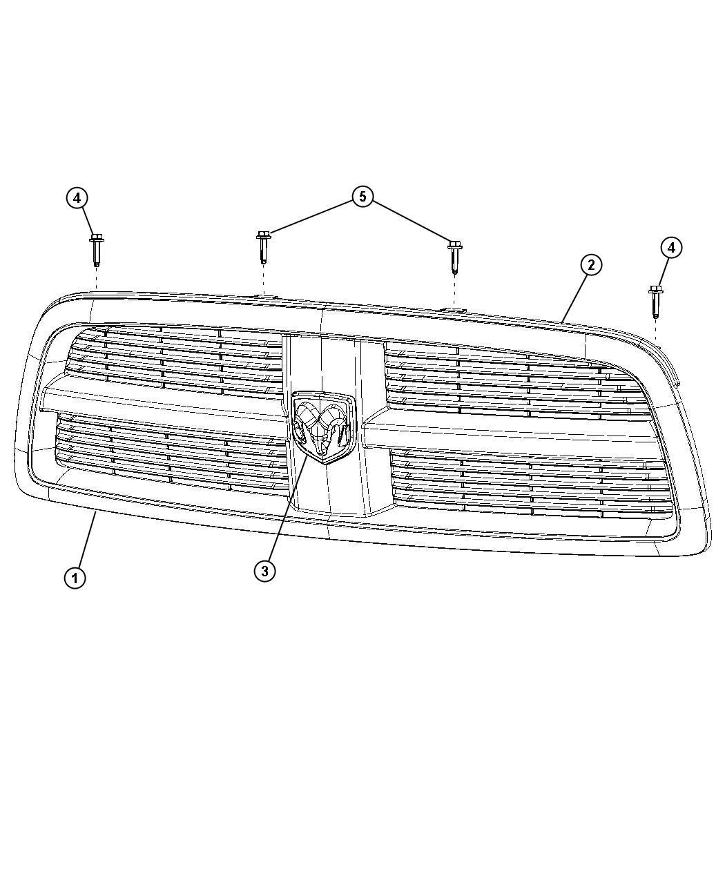 ram 5500 grille  radiator