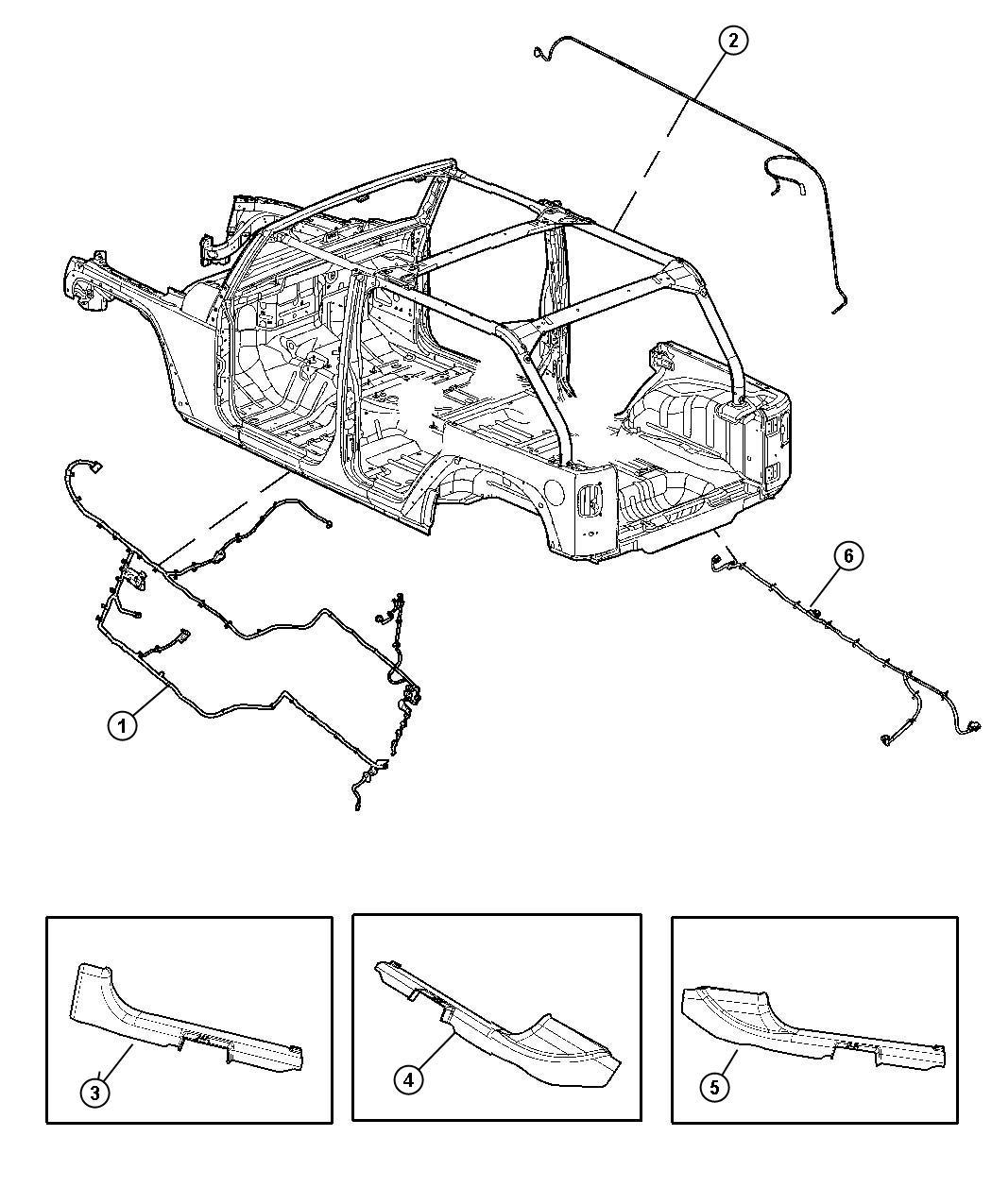 Jeep Wrangler Wiring  Body    Pwr Windows  Front 1