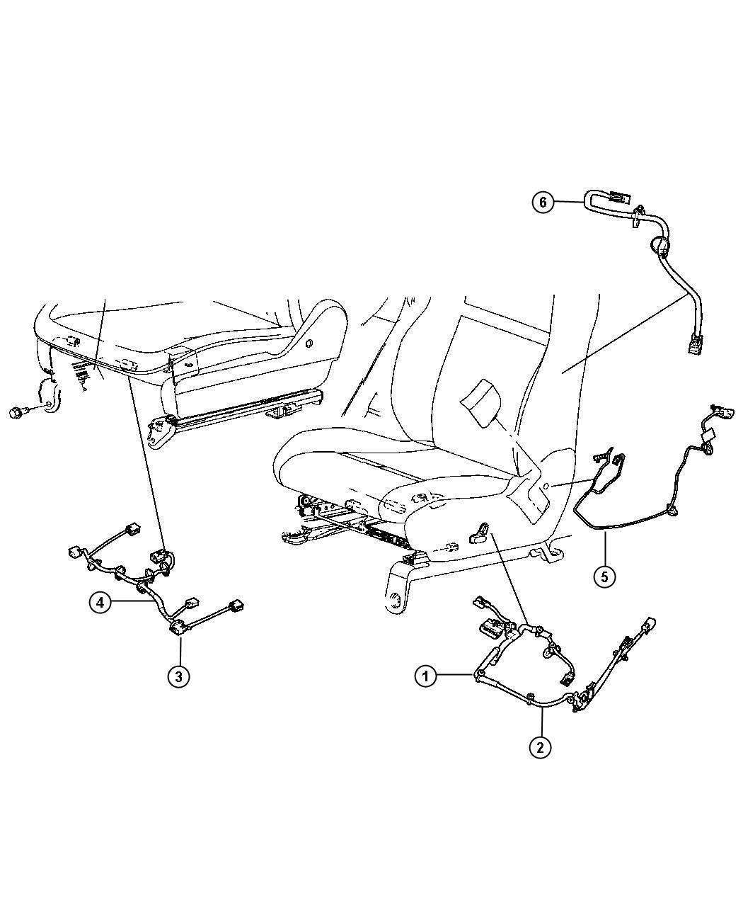 Ram Base Wiring  Power Seat  Seat  Seat Cushion  Driver