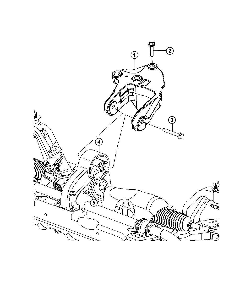 Dodge Journey Engine Mount  Isolator  Rear  Mounting  Awd