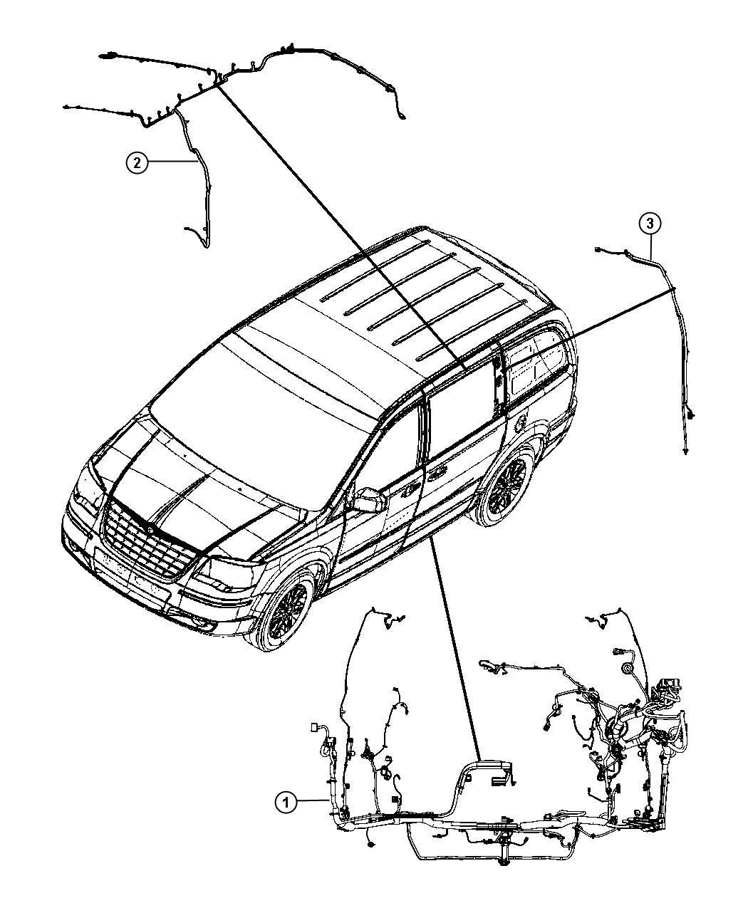 Dodge Grand Caravan Wiring. Body - 68160518AC   Chrysler ...