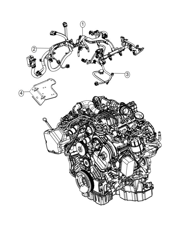 ram 1500 bracket  wiring  transmission  engine