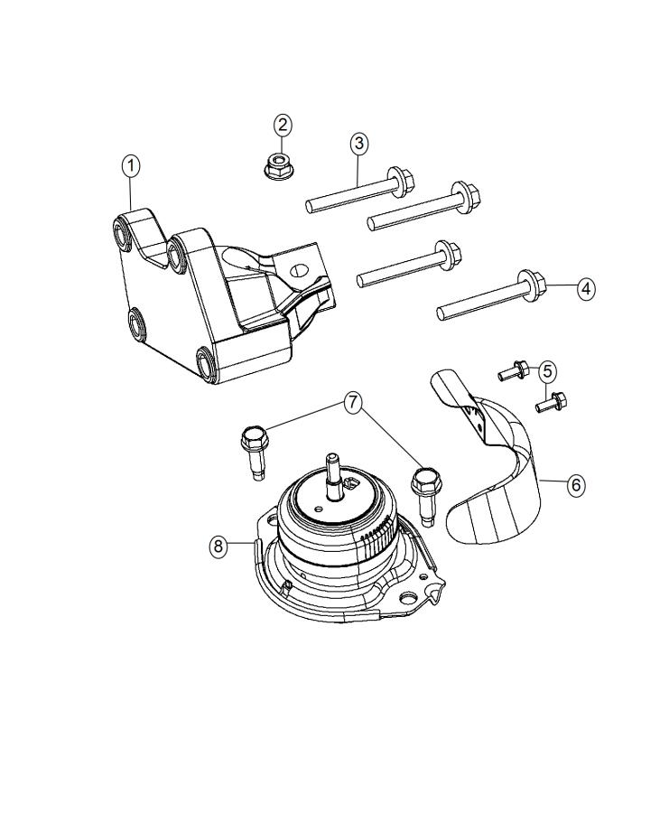 Dodge Durango Heat Shield  Engine Mount  Right Side  Inner  Mounting  Rwd  Awd