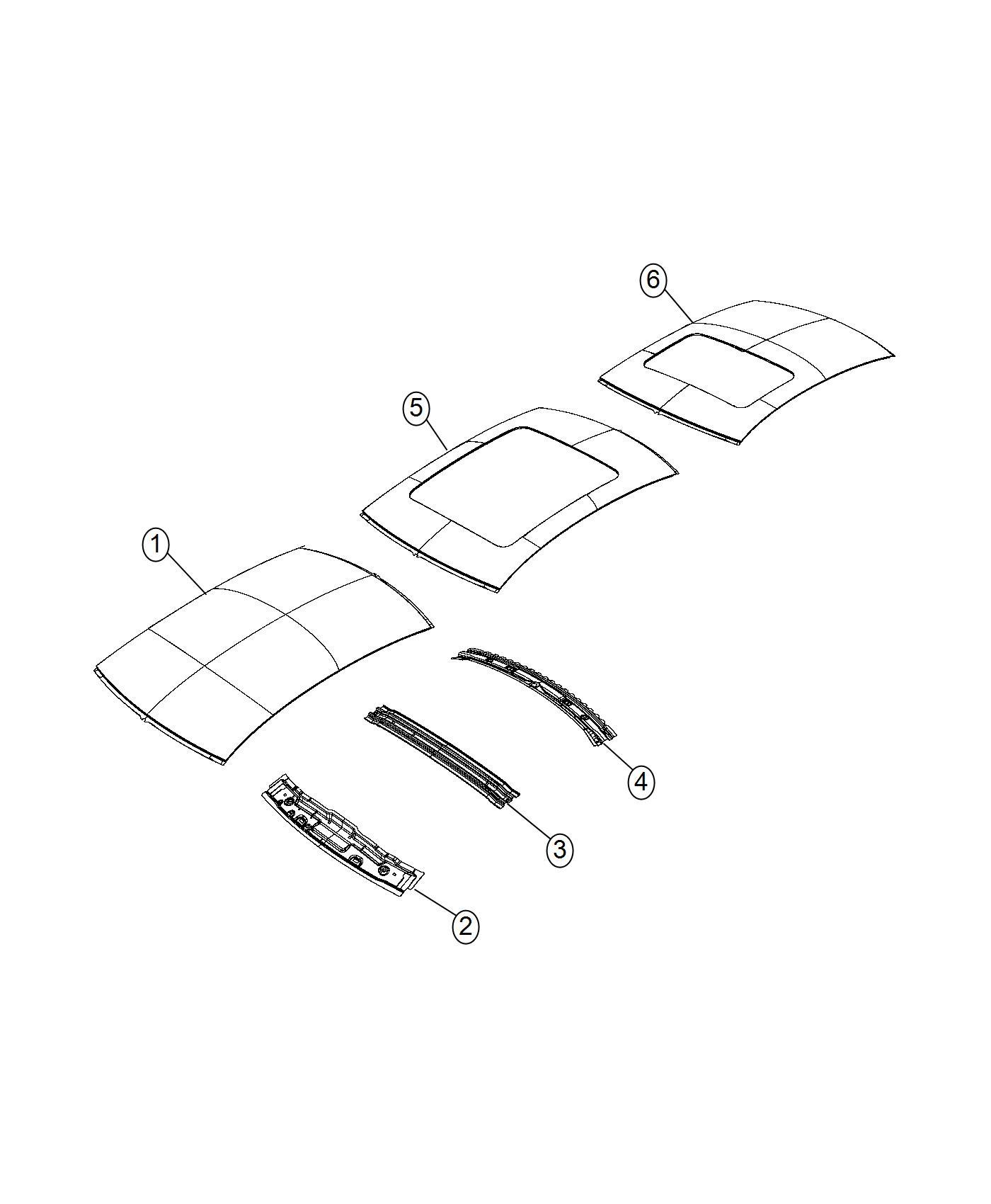 Chrysler 200 Bow. Roof. Sunroof - 68104590AA