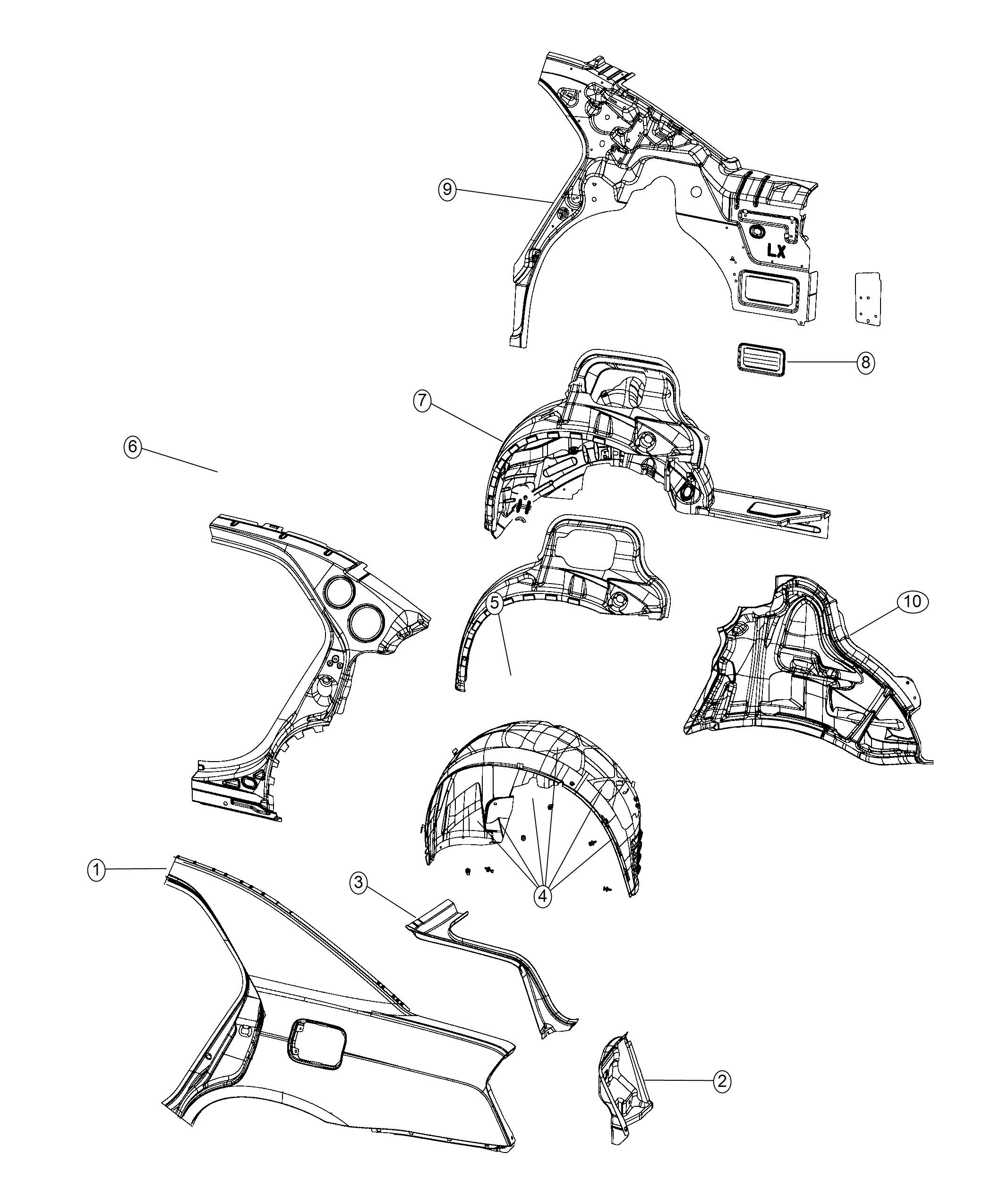 Chrysler 300 Reinforcement  Body Side Aperture Rear  Inner