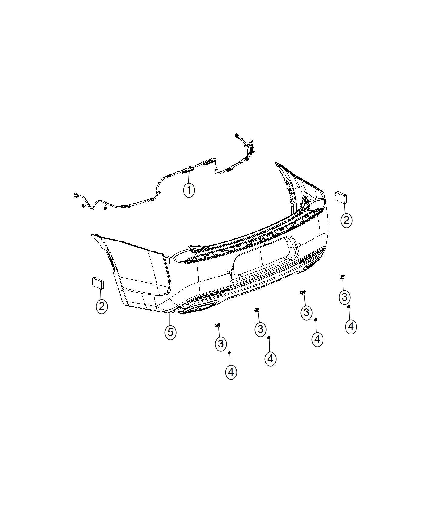 Chrysler 300 Module  Parking Assist   Parksense Ft  Rr Park