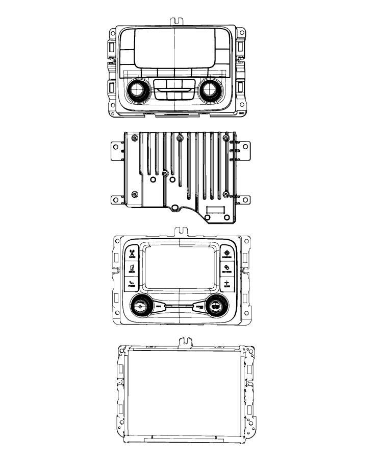 Ram 3500 Radio  Multi Media   Instrument Panel Parts Module    Uconnect 12 0 With