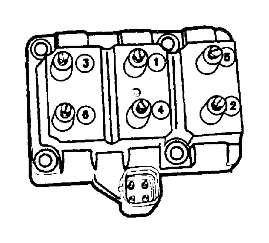 Dodge Grand Caravan Coil  Ignition  6-cylinder
