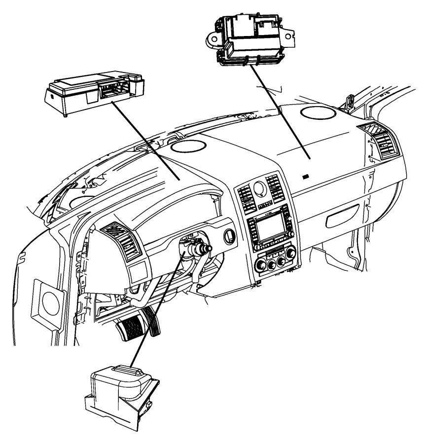 chrysler 300 module  steering column   l9   power tilt