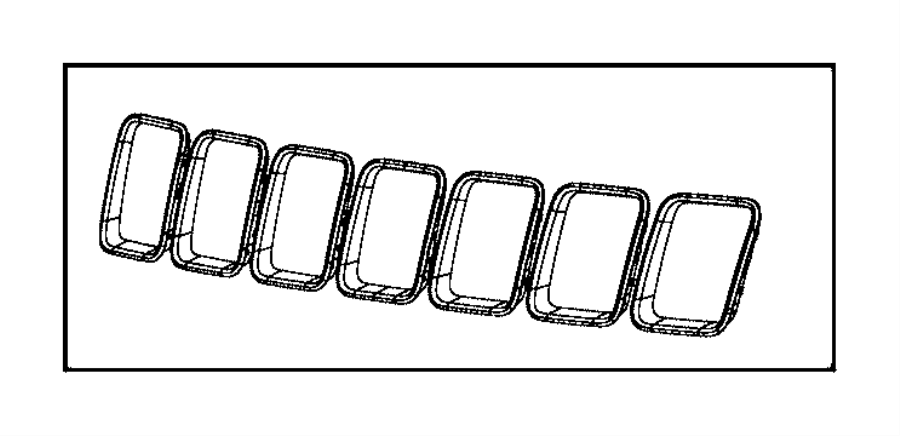 Jeep Grand Cherokee Trim Ring Kit  Radiator Grille   Front