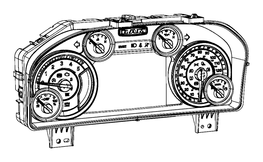 Ram 2500 Cluster  Instrument Panel